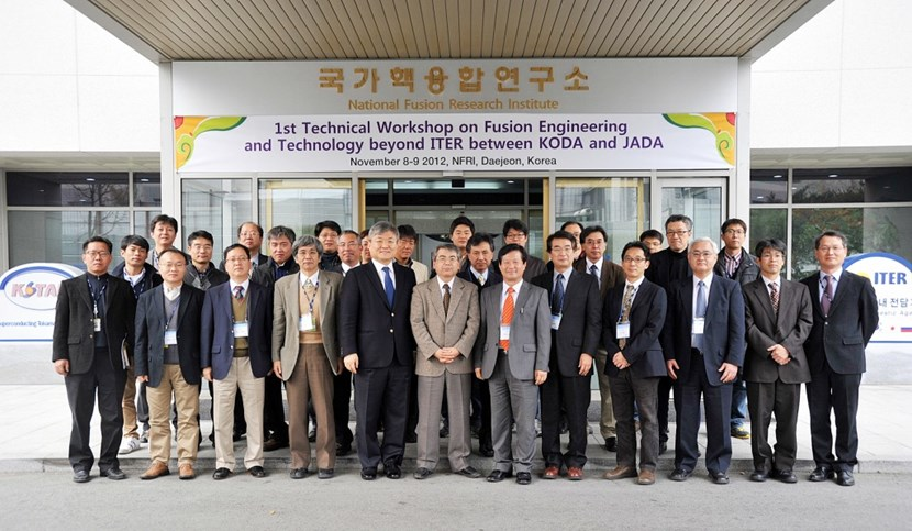 More than 40 experts in fusion attended from both countries, including the head of the Korean Domestic Agency, Dr. Kijung Jung, and the head of the Japanese Domestic Agency, Dr. Eisuke Tada. (Click to view larger version...)