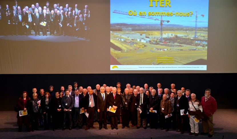 Following presentations in the ITER amphitheatre, the 53 mayors toured the ITER site to see the status of construction. (Click to view larger version...)