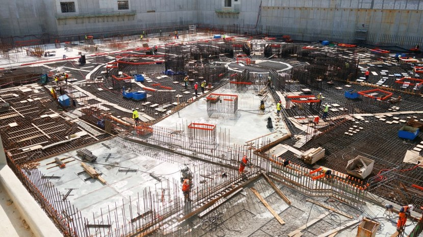 The final foundation operations for the 400,000-tonne Tokamak Complex will be finalized when the perfectly circular last segment is poured before the end of August. (Click to view larger version...)