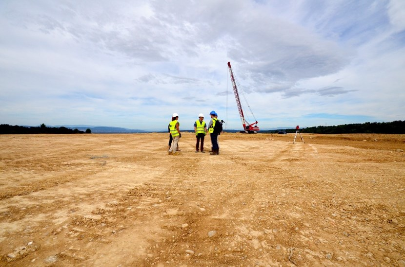 The two-hectare logistics platform will host the 9,000 m2 warehouse and an outdoor storage area. It is located on a stretch of land that was transferred from CEA to the ITER Organization earlier this year. (Click to view larger version...)