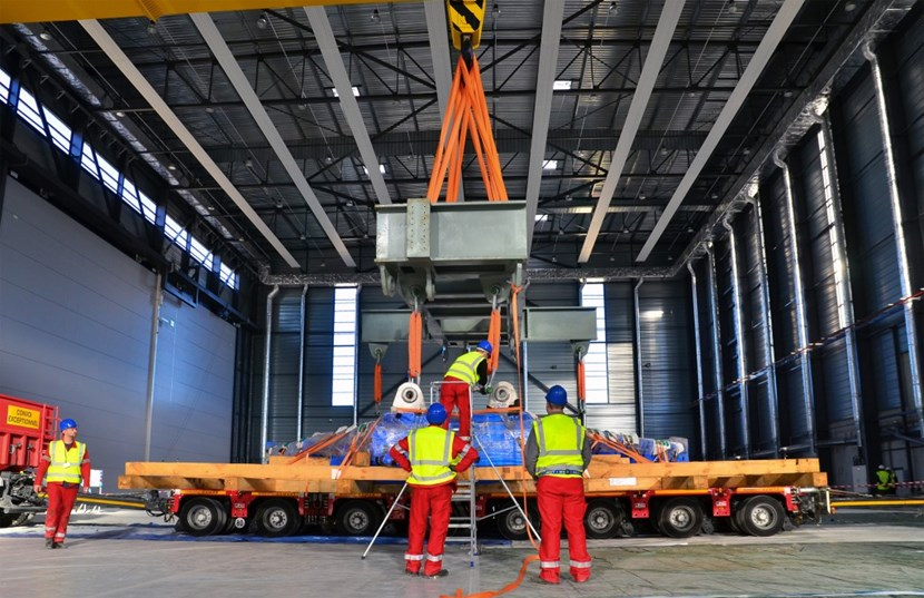 However large and impressive, the three 50-tonne elements delivered to ITER are but a small part of the completed 3,850-tonne component. (Click to view larger version...)