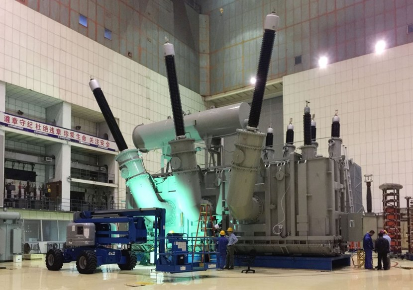 Procured by China, three giant transformers (460 tonnes, 15 metres high) will feed power to the heating and control systems during plasma pulses. (Click to view larger version...)