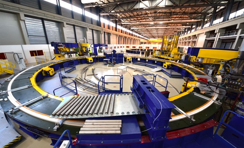 With the winding table now commissionned, fabrication for a ''pre-dummy'' and a real-size dummy, using copper conductor in lieu of the actual niobium-titanium (NbTi) alloy, will begin in late June. (Click to view larger version...)