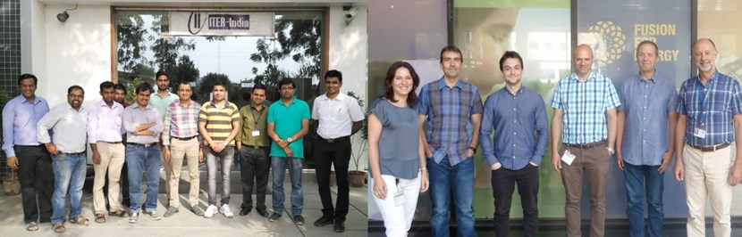 Representatives of the ITER Cryogenic Project Team working at ITER India (left) and at the European Domestic Agency (right). (Click to view larger version...)
