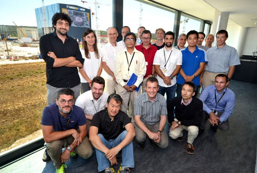 Merging resources for cryogenics: staff from the ITER Organization, the European Domestic Agency and the Indian Domestic Agency are now reunited in the new Cryogenic Project Team. (Picture: ITER Organization team members) (Click to view larger version...)