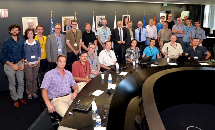 The pioneer group of ITER Scientist Fellows and members of the ITER Science & Operations Department, with whom they will be working closely. (One Fellow could not be on site for the photo.) (Click to view larger version...)
