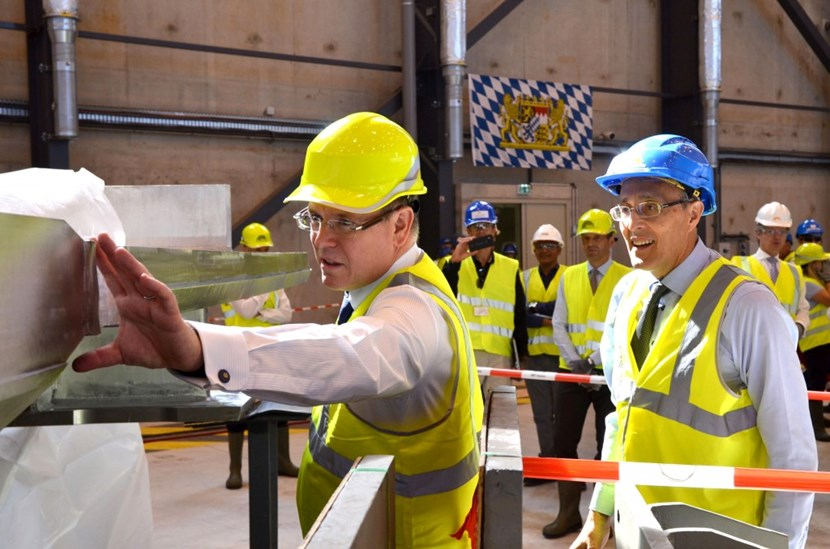 H.S.H. Prince Albert II of Monaco, who first came to ITER in January 2010, paid a second visit on Wednesday 21 September. (Click to view larger version...)