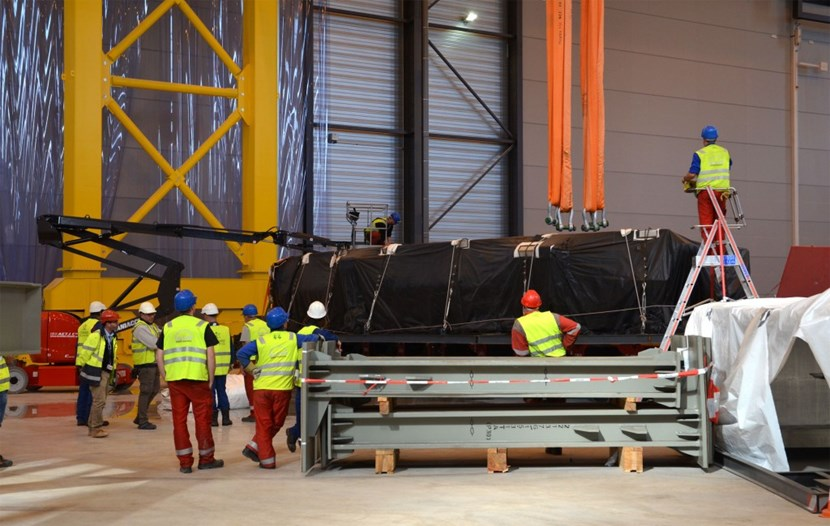 The last three segments of the cryostat base were safely delivered to ITER at 2:30 a.m. on 20 October and unloaded the next afternoon. (Click to view larger version...)