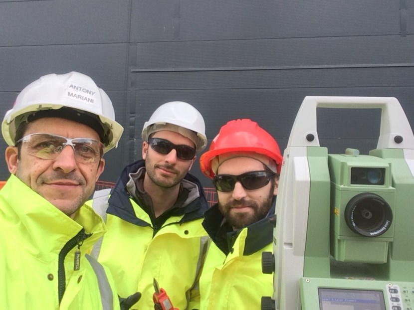 The metrology team (from left to right: Antony Marian, Juan Antonio and Juan Jose Ena) that is performing the on-site measurements for the electron cyclotron heating system. (Click to view larger version...)