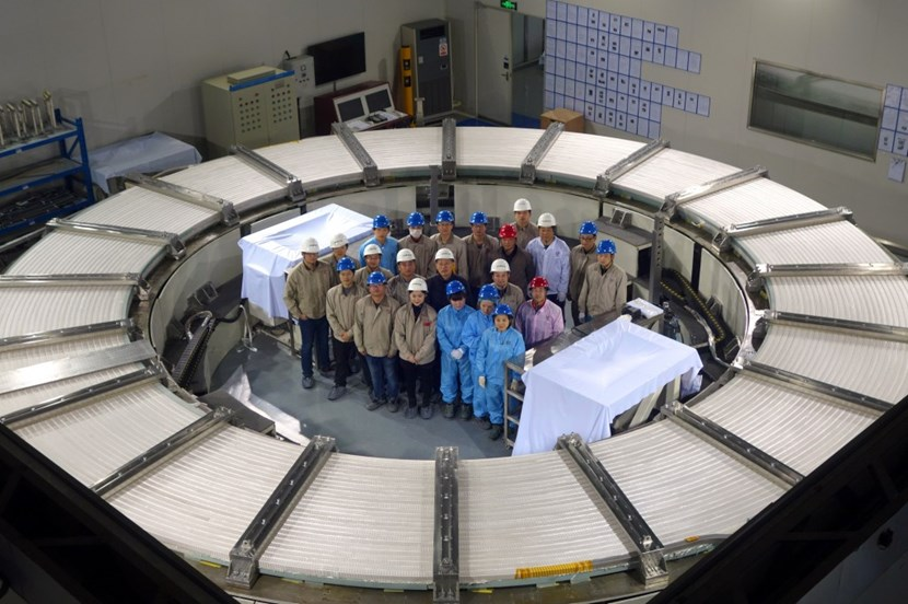 PF6—the second smallest of the ring-shaped magnets that circle the ITER Tokamak (Ø 8.5 metres)—will be manufactured at the Institute of Plasma Physics of the Chinese Academy of Science, ASIPP, in Hefei for the account of the European Domestic Agency. (Click to view larger version...)