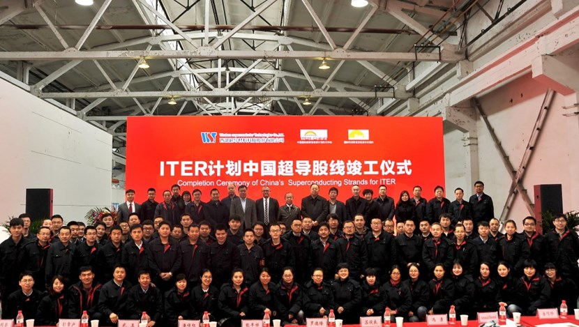 The completion of a 10-year campaign in China to produce superconducting strand for ITER's magnets was celebrated in March, as the last truck left the supplier's facility in Xi'an. (Click to view larger version...)