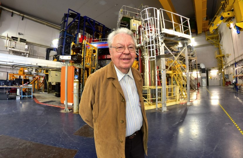 Robert Aymar—who led France's effort in fusion research for more than two decades, headed the ITER Project from 1993 to 2003, and served as CERN Director-General from 2004 to 2008—spoke as a ''grandfather'' to the assembled representatives of ITER and WEST. (Click to view larger version...)