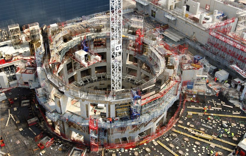 Ten days later, with a large part of the formwork and scaffolding removed, the details of the Tokamak bioshield have at last become easier to ''see'' for the non-specialist. (Click to view larger version...)