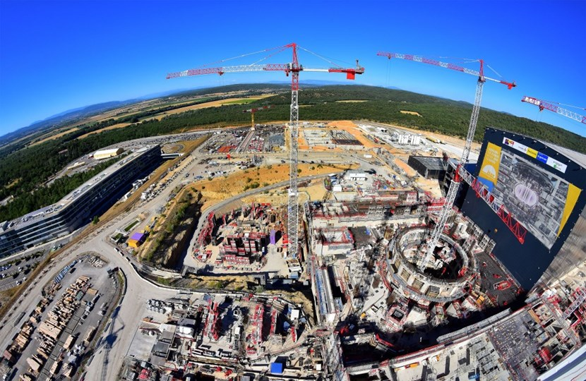 Some 3,300 cubic metres of concrete have already gone into the ITER bioshield (circular structure, at right); pouring is underway now on the L3 level and the first rebar has been set in place for L4. The other structures of the Tokamak Complex—the Tritium, Tokamak and Diagnostics buildings—are advancing each at its own rhythm. By the time assembly activities get underway late next year, the Complex will have a roof ... (Click to view larger version...)