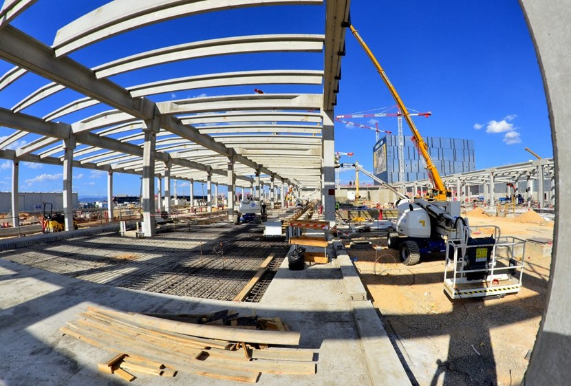 The relatively straightforward structures—each 150 metres in length—are going up rapidly on the ITER site. At the same time, contractors are finalizing buried technical galleries between the buildings. By the end of the year, contractors will begin installing the equipment. (Click to view larger version...)