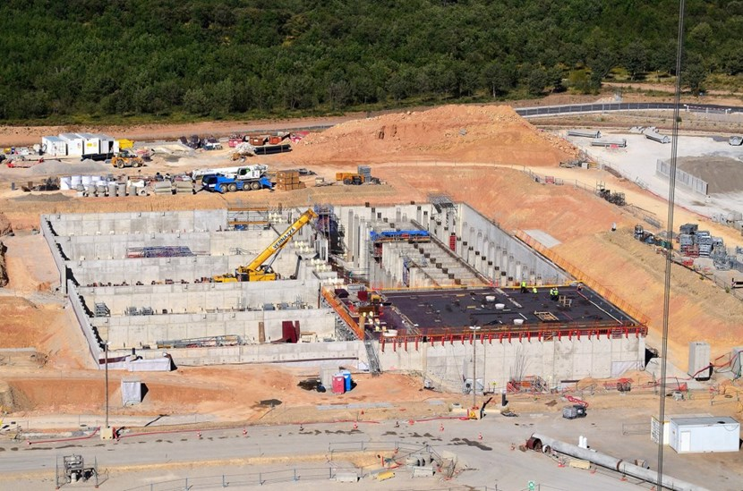 Seen from above, the cooling water zone at the northeast end of the ITER site. (Click to view larger version...)
