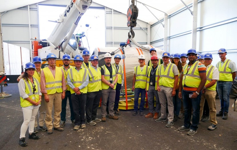 ''We now have a fully useable pump, signifying that all issues have been solved,'' said Robert Pearce, Head of ITER's Vacuum Section (7th from left). (Click to view larger version...)