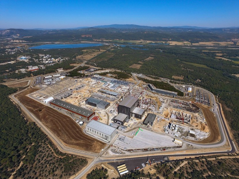 Nestled in the hills of Provence, the ITER site is now home to more than 3,500 people, worksite workers and scientific, technical and administrative personnel. In a few years it has outgrown the village that hosts it. (Photo ITER Organization - EJF Riche) (Click to view larger version...)