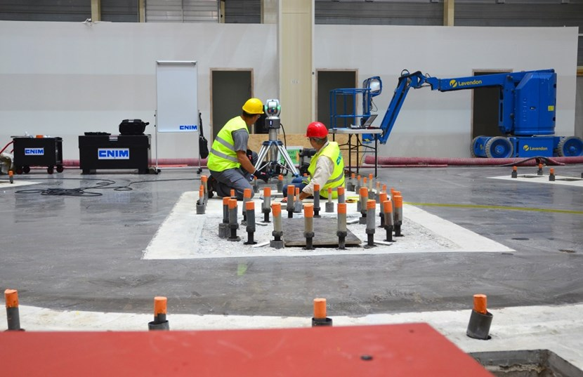 Careful measurements were taken before, during and after the installation of the base plates, which will serve as the ''zero level'' reference point for all tool installation activities ahead. (Click to view larger version...)