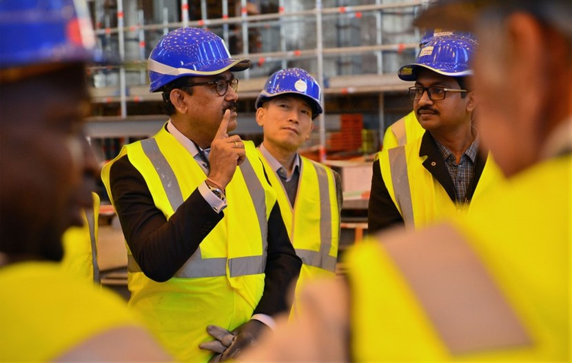 Arunkumar Srivastava, who will take up his duty as Chair of the ITER Council in January, participated in the visit along with ITER Director-General Bernard Bigot. (Click to view larger version...)