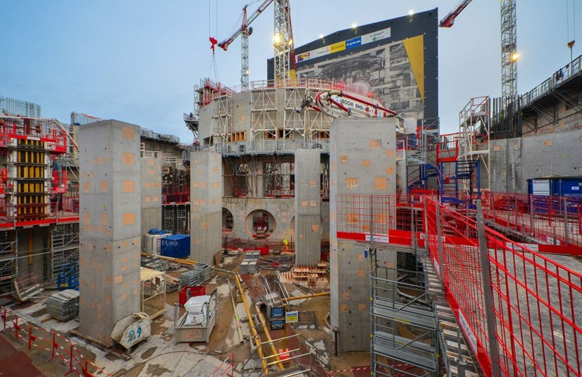 The massive structure of the bioshield—an emblem of the ITER Project—is now bare and its revealed anatomy helps us to better understand its function. (Click to view larger version...)