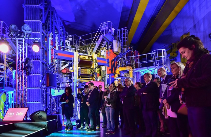 More than a year after producing its first plasma, the ITER-relevant WEST project was inaugurated amid a spectacular light show. (Click to view larger version...)
