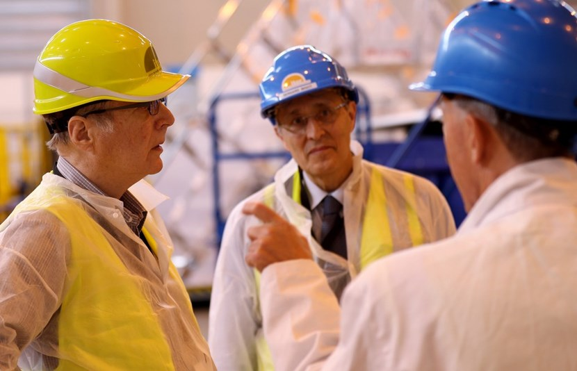 ''A visit to ITER was my chance to see preparations for the birth of a star on Earth,'' said Paul Allen (left) on his recent tour of the ITER worksite. (Click to view larger version...)