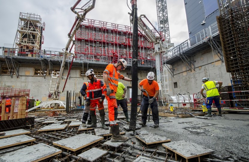 All in all, there will be approximately 10,000 tonnes of borated heavy concrete (3.7 tonnes per cubic metre as compared to 2.4 tonnes for a standard formulation) inside the Tokamak Building. (Click to view larger version...)
