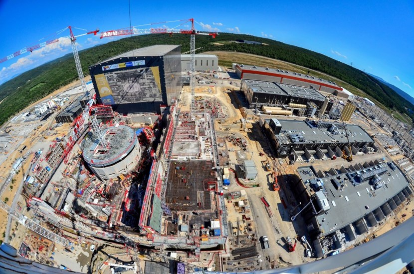 The ITER site in early July 2018. Project metrics indicate that the level of design completion for First Plasma components and systems is at 93.9 percent, while the level of construction and manufacturing completion to reach First Plasma has topped 60 % based on ITER Unit of Account value credits (May data). (Click to view larger version...)