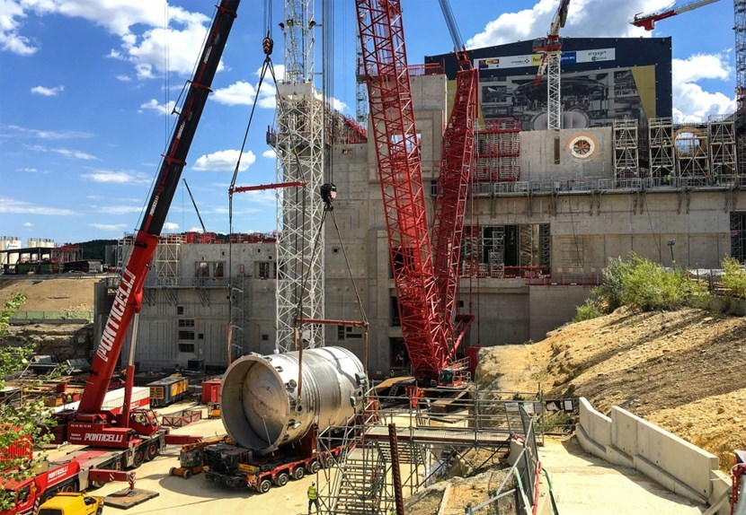 In one of the most spectacular installation activities performed yet in the Tokamak Complex, three drain tanks and four vapour suppression tanks were installed during the week of 14 August. (Click to view larger version...)