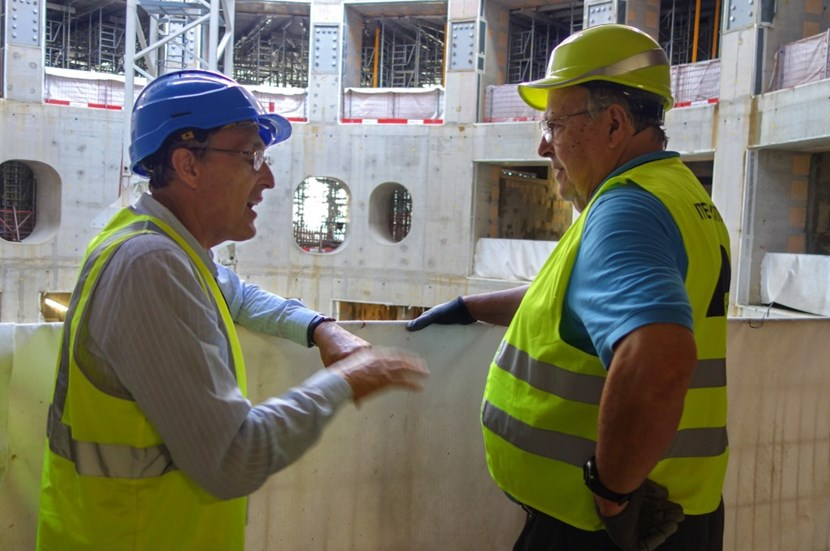 Bob Iotti was back at ITER last week to tour the site and to measure the progress accomplished since he left three years ago. (Click to view larger version...)