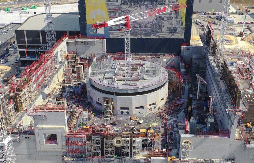 The C1 crane, which delivers materials all around the Tokamak Building from its position in the middle of the bioshield, is about to grow 10 metres. (Click to view larger version...)