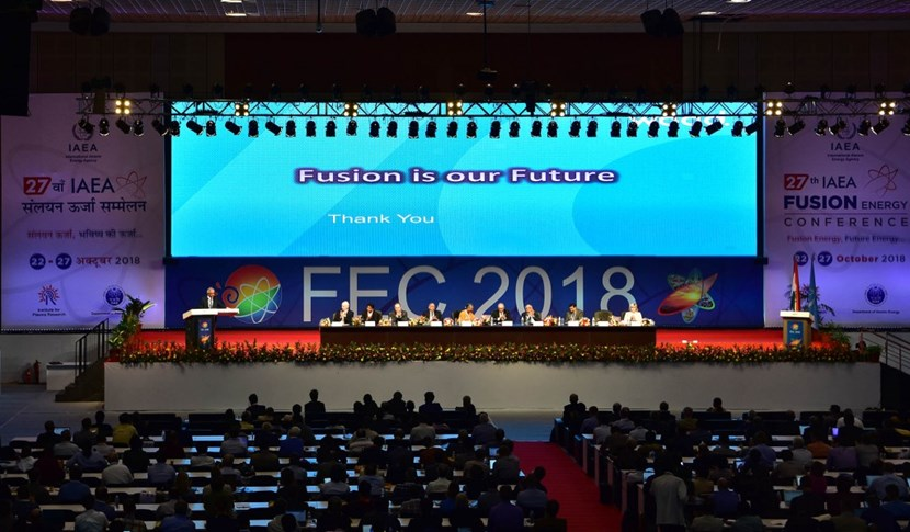 The 27th Fusion Energy Conference (FEC) was held from 22 to 27 October in Ahmedabad-Gandhinagar, India—Mahatma Gandhi's hometown. It brought together 718 participants from 39 IAEA Member States and 4 international organizations. (Click to view larger version...)