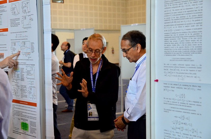 Through posters or presentations, the meeting ''is vital for our community,'' says ITER chief scientist Tim Luce. ''This is where we hear the best lines from the best scientists before publication.'' (Click to view larger version...)