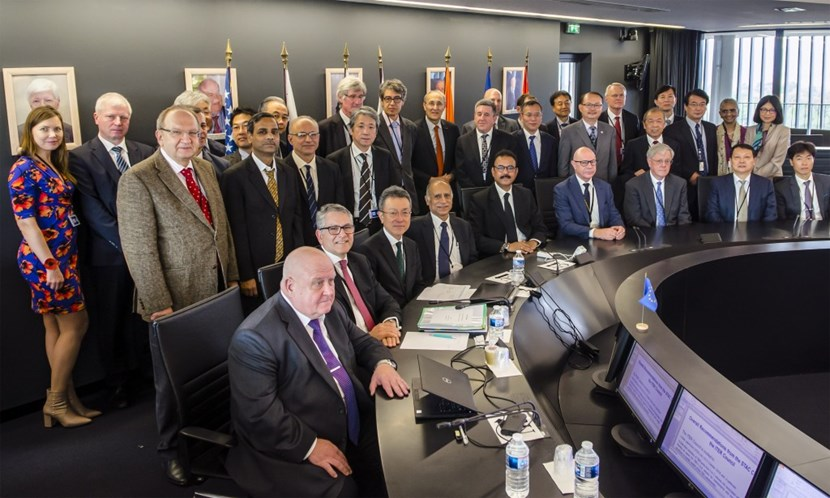 The ITER Council convened on 14 and 15 November under the chairmanship of Arun Srivastava from India (front row, centre). On the program this time: project performance and the preparations underway for the machine assembly phase. (Click to view larger version...)