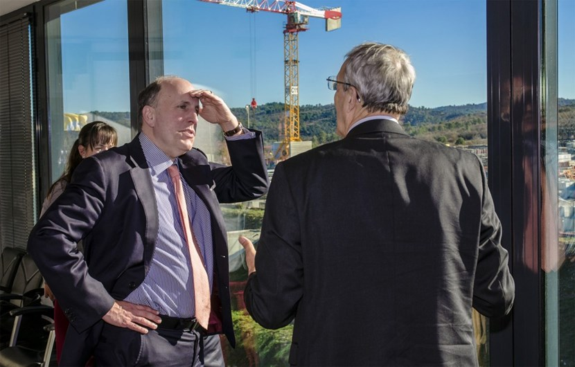 US Under Secretary for Science, Paul Dabbar, visits ITER on 10 December. (Click to view larger version...)