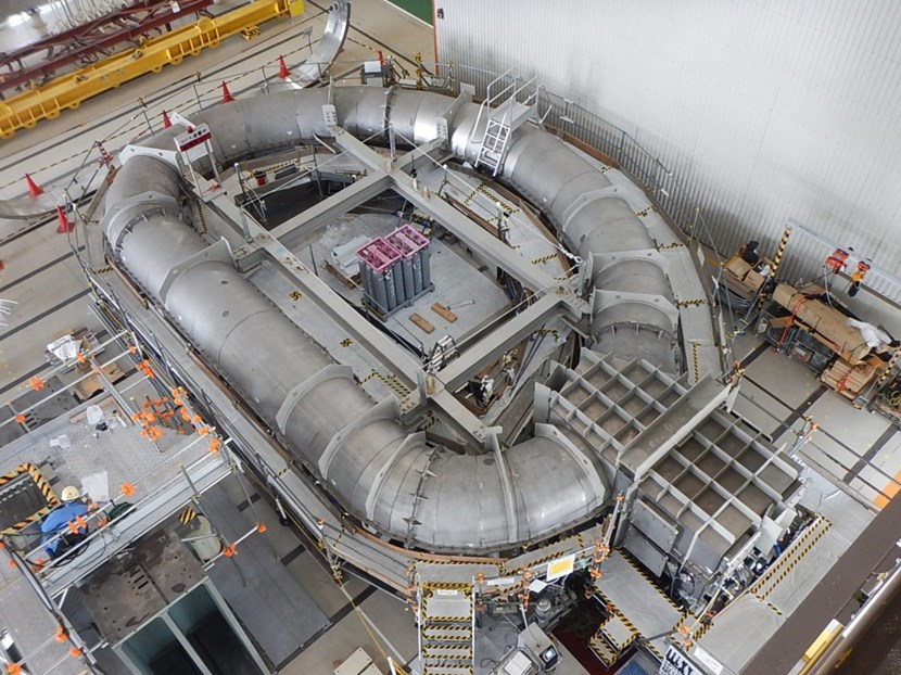 The first Japanese winding pack was cold tested in October in this purpose-built cryogenic chamber at Mitsubishi. In a final step before shipment to ITER, the winding pack will be inserted in its structural case. (Click to view larger version...)