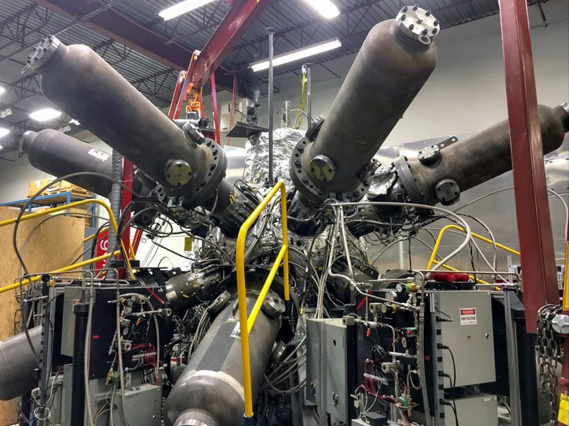 Having developed its ''sub-scale first generation compression technology testbed,'' General Fusion is presently working on the design of a sub-breakeven demonstration plant. (Click to view larger version...)