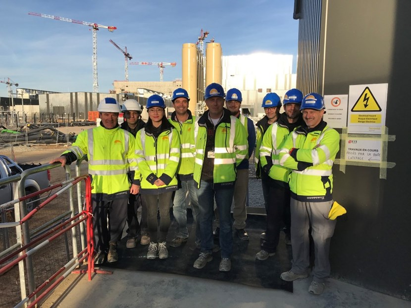 Members of the electrical engineering and science/operations groups at ITER have a reason to smile: the first ITER system has successfully entered operation. (Click to view larger version...)