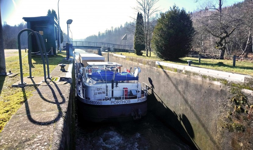 Manufactured under an ITER India contract by Linde Kryotechnik AG near Zürich, Switzerland, the ''cryogenic termination cold box'' reached the Rhône river valley through a network of small-gauge canals dotted with locks and tunnels. (Click to view larger version...)