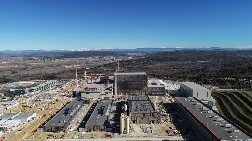 The ITER site, filmed by drone in early February. Seventy-four percent of building construction on the platform has been completed. Photo: ITER Organization/EJF Riche (Click to view larger version...)