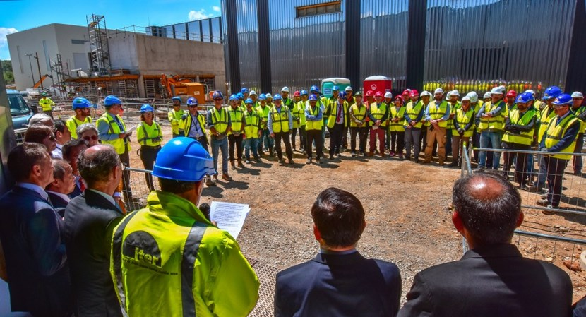 On Thursday 23 June, a celebration took place at the Site Services Building. The celebration marked the completion of construction work by Demont, the subcontractor responsible for installing the electrical and mechanical systems in the building. (Click to view larger version...)