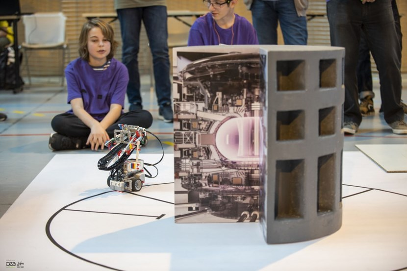 Forty-nine teams from 29 French schools participated in a year-long technology project that culminated at the final on 21 May at the Lycée des Iscles in Manosque. © Christophe Roux - IRFM-CEA (Click to view larger version...)