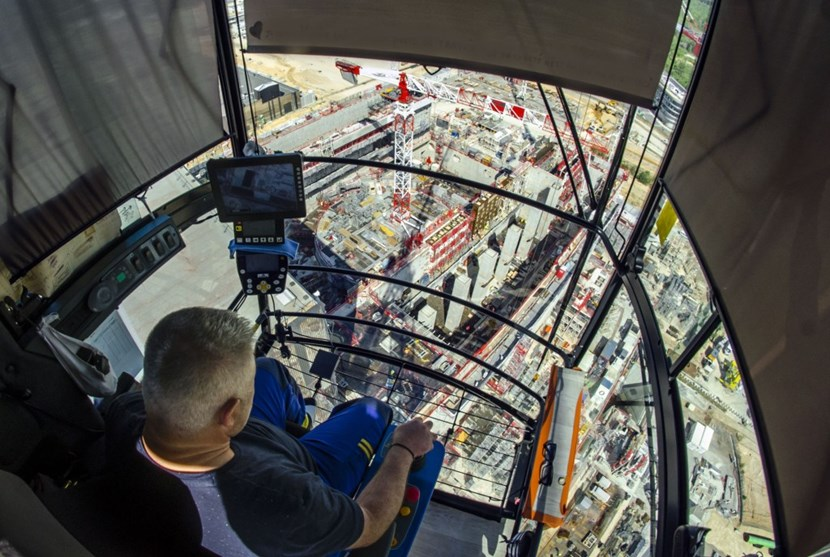 Alex Dumonteil is one of 18 crane operators working in shifts on the ITER construction site. Last week he opened his cabin (perched 80 metres above ground) to Newsline. (Click to view larger version...)