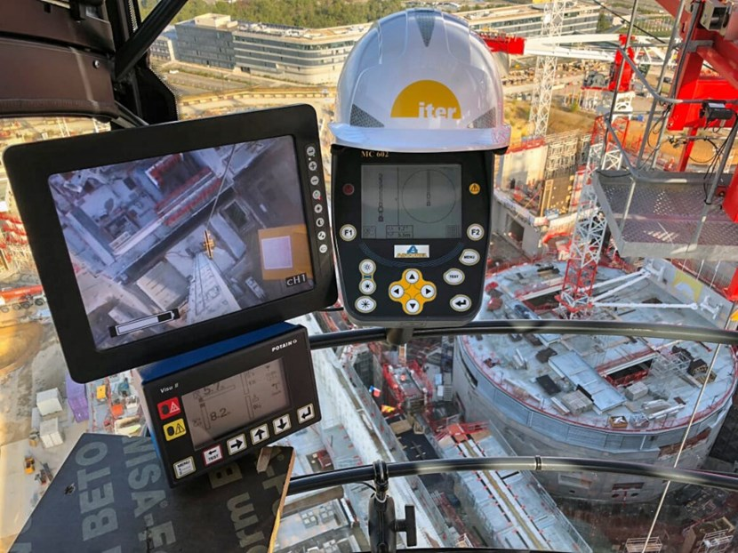 Like pilots, crane operators have the privilege of enjoying breathtaking and ever-changing panoramas. Photo of the ITER worksite by Philippe Pinlou Cervantes. (Click to view larger version...)