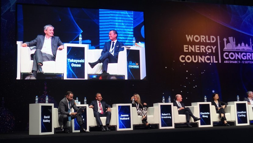 In a parallel session on ''New Technologies Frontier,' ITER Chief Strategist Takayoshi Omae and Tokamak Energy CEO Jonathan Carling shared their views on the latest innovations and breakthrough technologies driving the energy transition. (Click to view larger version...)