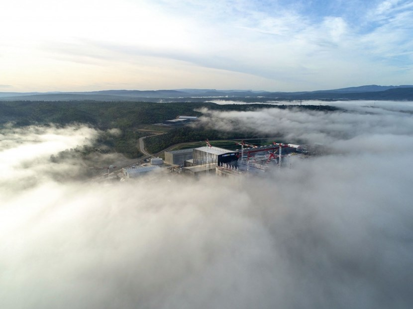 As the fog over the Durance River valley dissipates, the ITER site is revealed in all its industrial beauty. Photo: ITER Organization/EJF Riche (Click to view larger version...)