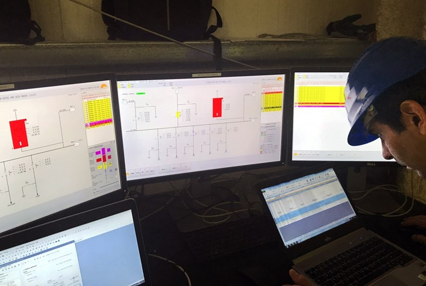''Commissioning starts when you switch things on and nothing works exactly as planned,'' says Anders Wallander, head of the Controls Division. This image captures the moment when the team first attempted to operate high voltage circuit breakers from the CODAC human machine interface. (Click to view larger version...)