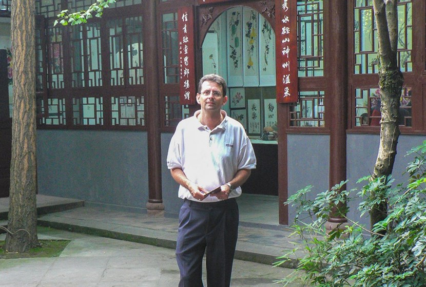Alain Bécoulet, in China in 2006, half-way into a 30-year relationship built on ''warm and confident relationships''. (Click to view larger version...)