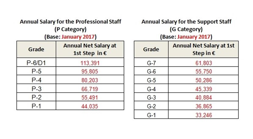 The figures above represent Net ''Take home Salary'', after application of the compulsory deductions (Internal Tax and contributions to Pension Fund, Medical and Death & Disability Insurances). (Click to view larger version...)